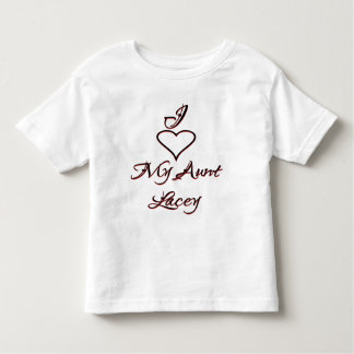 I Love My Aunt Toddler T-shirt