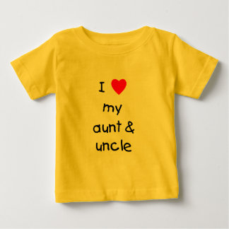 I Love My Aunt & Uncle Baby T-Shirt