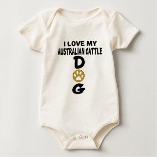 I Love My Australian Cattle Dog Designs Baby Bodysuit