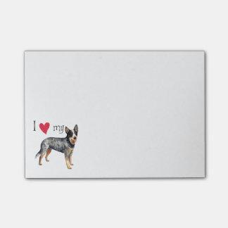I Love my Australian Cattle Dog Post-it Notes