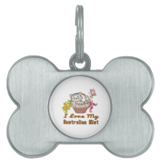 I Love My Australian Mist Pet ID Tag