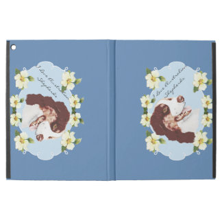 "I Love My Australian Shepherd, Blue Floral iPad Pro 12.9"" Case"