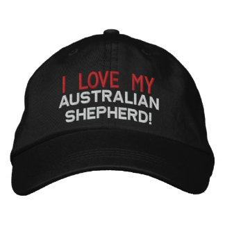 I Love My Australian Shepherd Dog Embroidered Hat