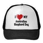 I Love My Australian Shepherd Dog Hat