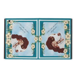I Love My Australian Shepherd, Teal Floral iPad Case