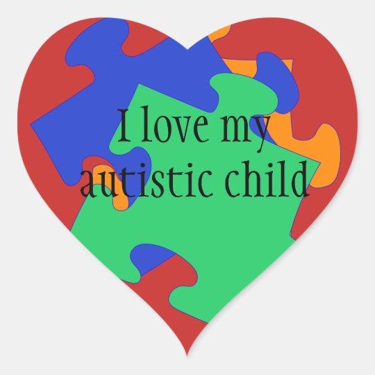 I love my autistic child Stickers