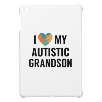I Love My Autistic Grandson iPad Mini Cover