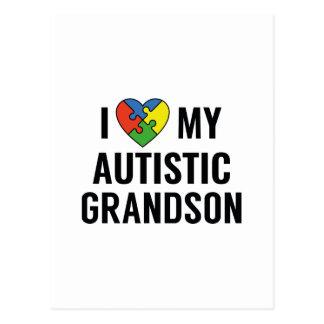I Love My Autistic Grandson Postcard