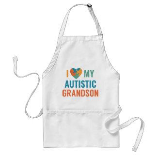I Love My Autistic Grandson Standard Apron