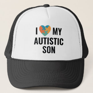 I Love My Autistic Son Trucker Hat