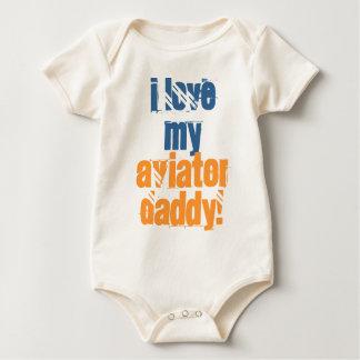 I love my Aviator Daddy Baby Bodysuit