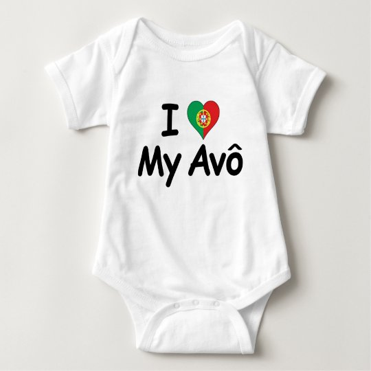 I Love My Avo (Grandfather) Baby Bodysuit