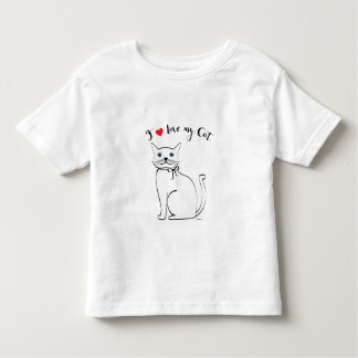 I love my awesome Cat, Cute Babys Toddler T-shirt