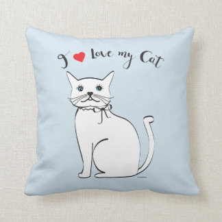 I love my awesome Cat, Stylish Throw Pillow