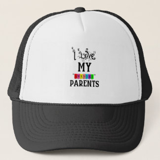 I Love My Awesome Parents(1) Trucker Hat