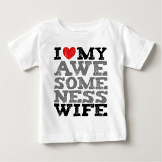 I Love My Awesomeness Wife Full Style T-shirts