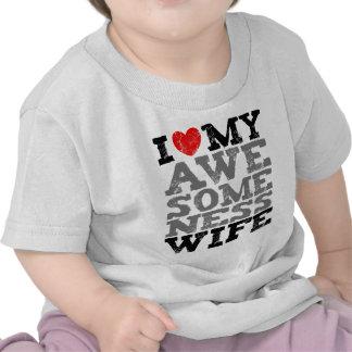 I Love My Awesomeness Wife Full Style Shirt