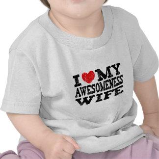 I Love My Awesomeness Wife Tshirt
