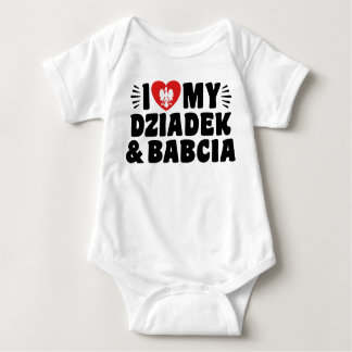 I Love My Babcia & Dziadek Baby Bodysuit