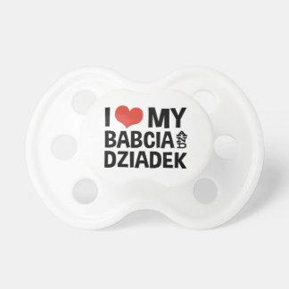 I Love My Babcia & Dziadek Pacifier