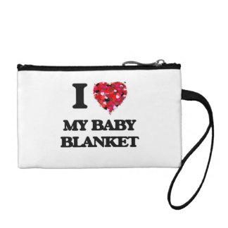 I love My Baby Blanket Change Purse