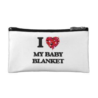 I love My Baby Blanket Makeup Bag