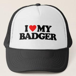 I LOVE MY BADGER TRUCKER HAT