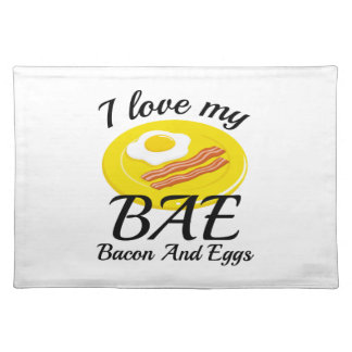I Love My BAE Placemat