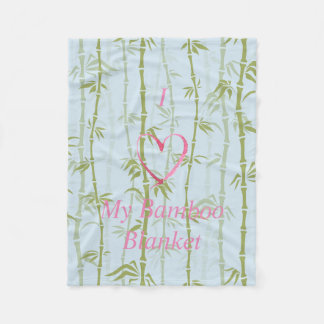 I-Love My Bamboo Painting Fleece Blanket, Small