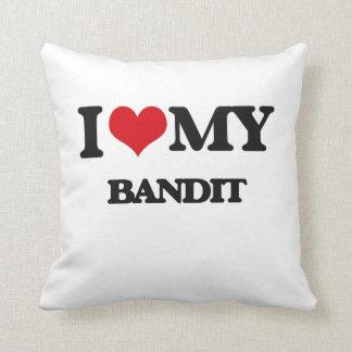 I love my Bandit Throw Pillow