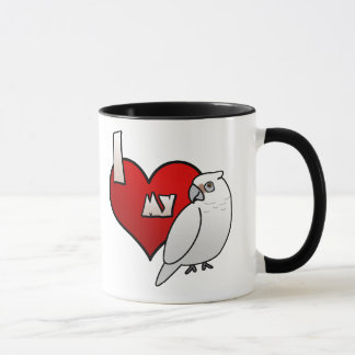 I Love my Bare Eyed Cockatoo Mug