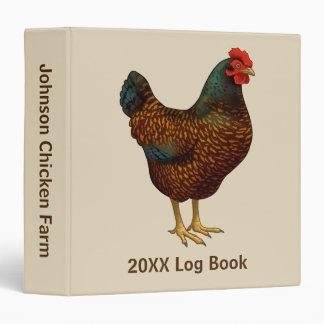 I Love My Barnevelder Chickens Binder