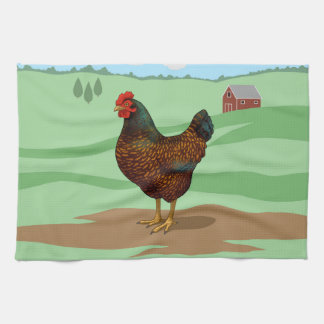 I Love My Barnevelder Chickens Kitchen Towel