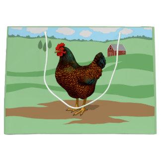 I Love My Barnevelder Chickens Large Gift Bag