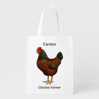 I Love My Barnevelder Chickens Reusable Grocery Bag
