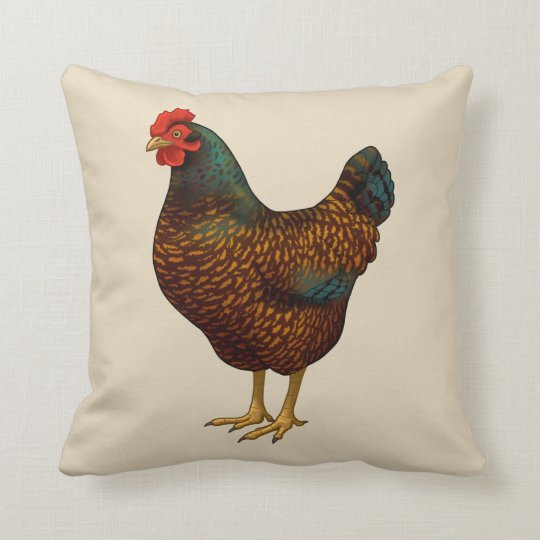 I Love My Barnevelder Chickens Throw Pillow