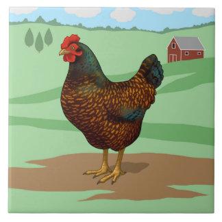 I Love My Barnevelder Chickens Tile