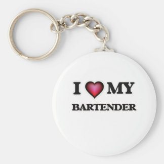 I love my Bartender Basic Round Button Keychain