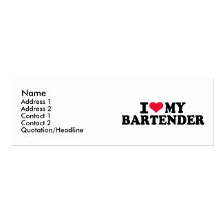 I love my Bartender Mini Business Card