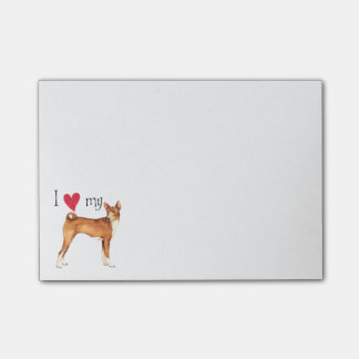 I Love my Basenji Post-it Notes