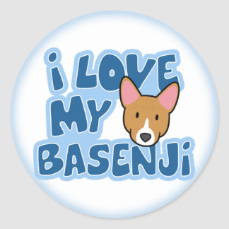 I Love My Basenji Stickers