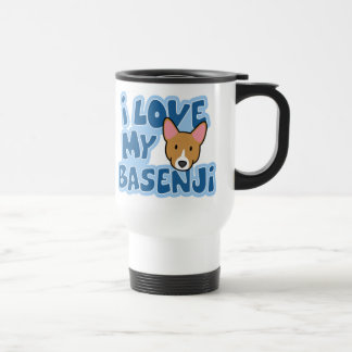 I Love My Basenji Travel Mug
