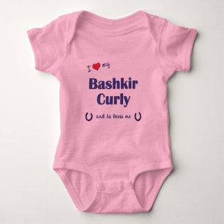 I Love My Bashkir Curly (Male Horse) Baby Bodysuit