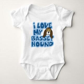 I Love My Basset Hound Baby Creeper
