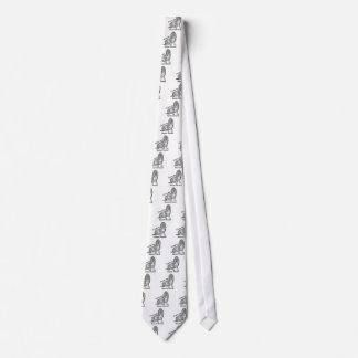 I Love my Basset Hound Tie