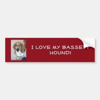 I love my Bassett Hound!  Bumper Sticker
