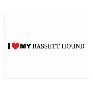 i love my bassett hound postcard