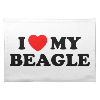 I Love my Beagle American MoJo Placemats