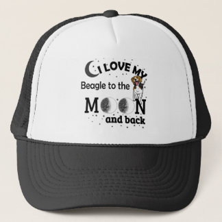 I Love My Beagle Casual Apparel Trucker Hat