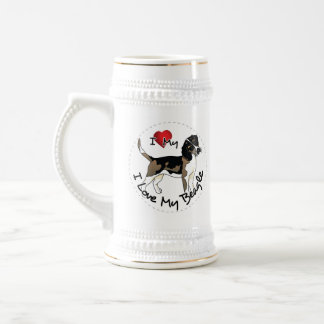 I Love My Beagle Dog Beer Stein